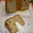 ラムレーズンのシフォンケーキ